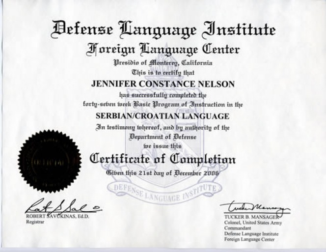 About Jenna Cronin  Certificate Of Completion Training